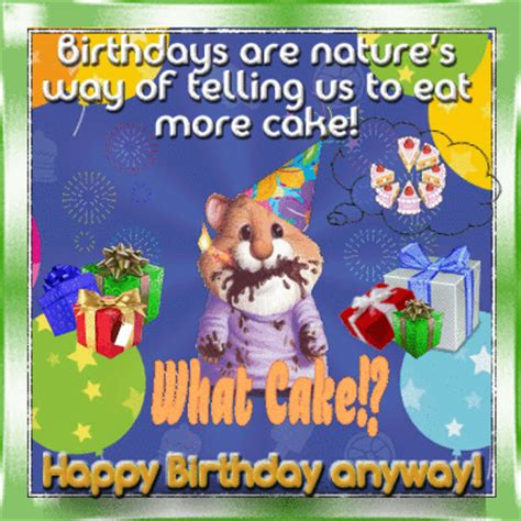 eat  cake  funny birthday wishes ecards greeting cards