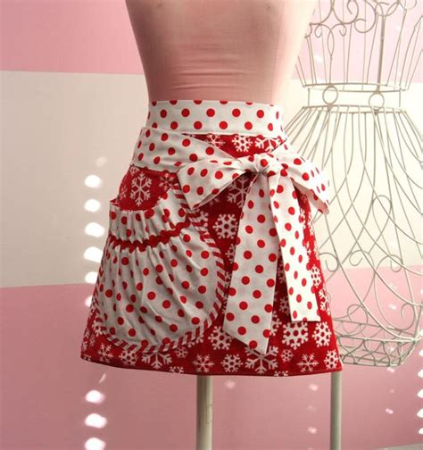 pattern for apron with towel christmas apron red and white christmas snowflake apron
