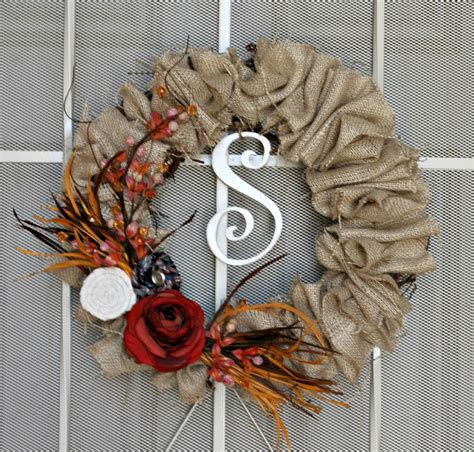 diy fall wreaths sweet passions on a thrifty dime fall wreath with burlap