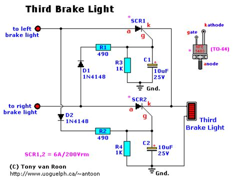 third brake light circuit wiring diagrams