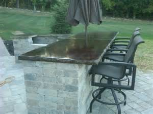 Outside Bar Tops G M Concrete Concrete Countertops