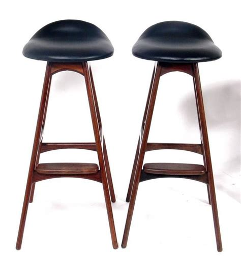 danish modern bar stool danish modern bar stools by erik buck at 1stdibs