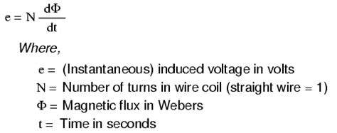 electric induction formula electromagnetic induction magnetism and electromagnetism electronics textbook