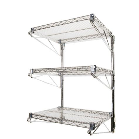 Wall Mount Wire Shelf by Wall Mounted Shelving Racks Accessories Shelving