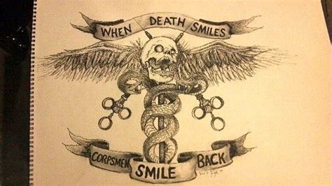 navy tattoo history when death smiles corpsmen smile back members gallery