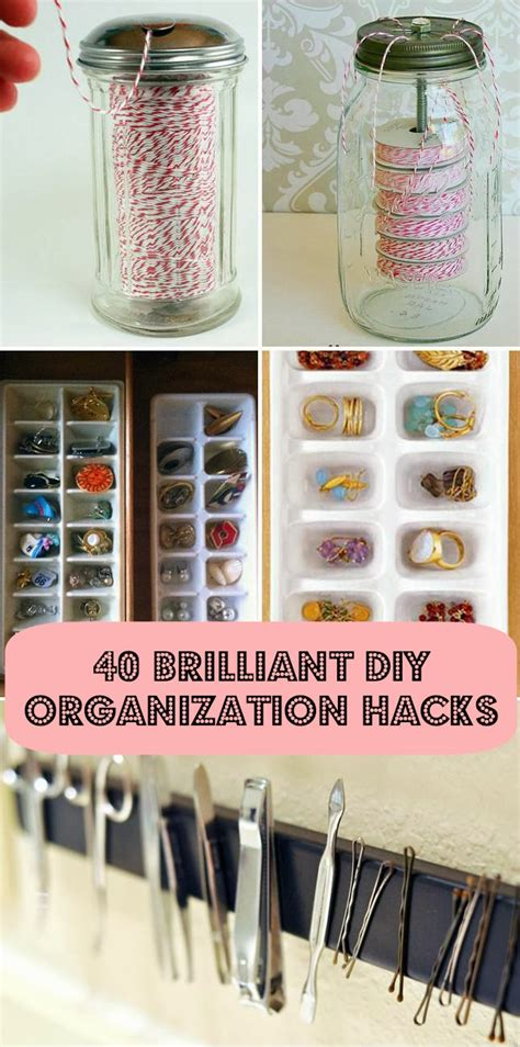 organizing hacks 40 diy home organization hacks