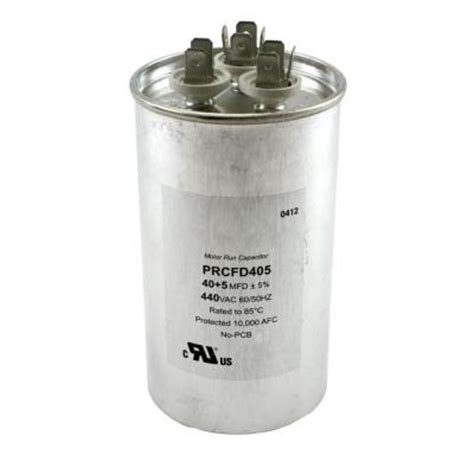 home depot well capacitor packard 440 volts dual motor run capacitors mfd 40 5 0 discontinued prcfd405 the
