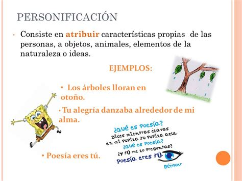 imagenes sensoriales comparaciones y personificaciones tema 2 lengua mromerasuarez