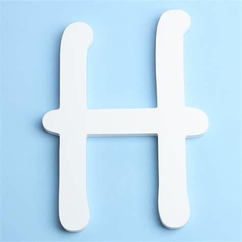 Letter Decorations For Nursery by White Brush Font Wood Letter H Word And Letter Cutouts