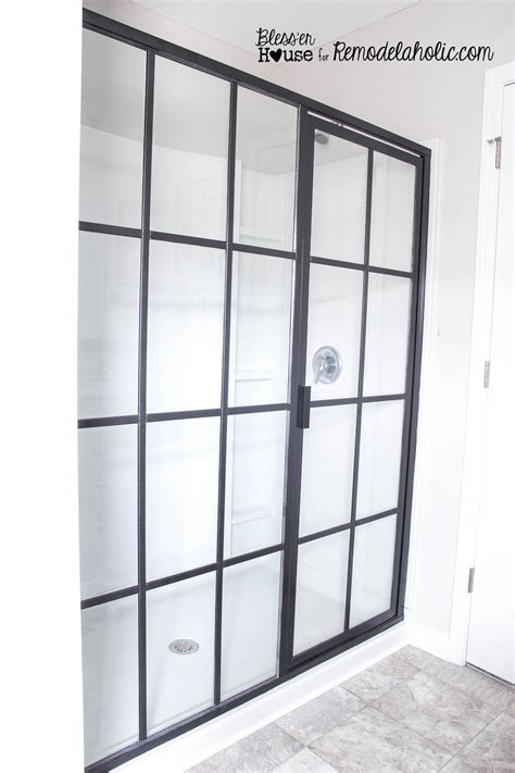shower door diy remodelaholic diy industrial factory window shower door