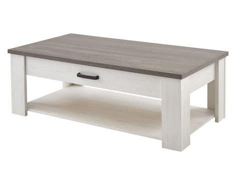 table basse a tiroir table basse rectangulaire avec 1 tiroir et 1 niche