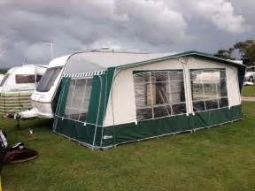caravan awning inaca sands 950 green and grey in