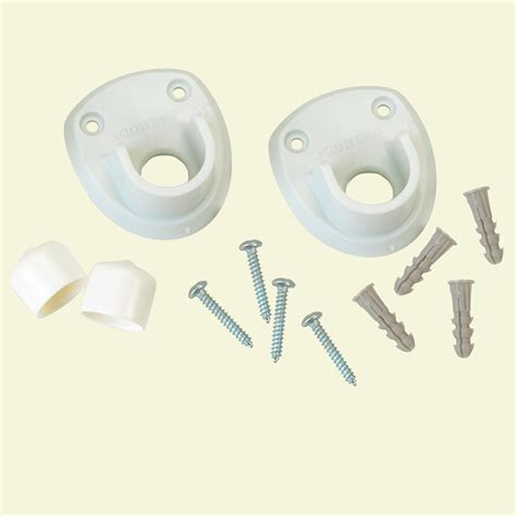 closetmaid rod bracket closetmaid 3 in closet rod side wall bracket 2 pack