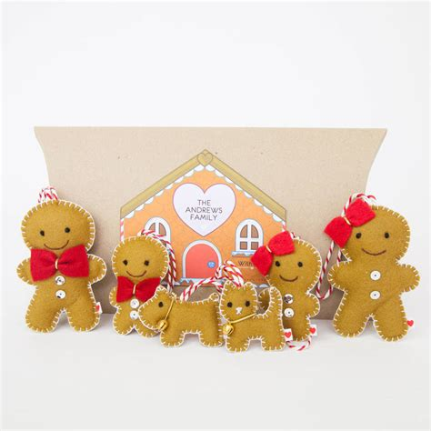gingerbread family tree decorations by miss shelly designs
