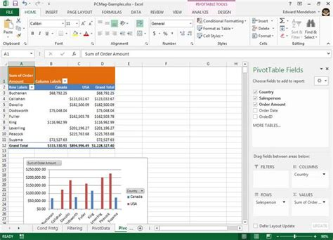 Pivot Tables In Excel 2013 microsoft excel 2013 slide 6 slideshow from pcmag
