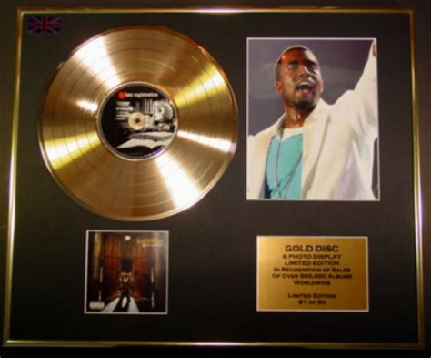 Kayne For Limited Edition At Shopbop by Kanye West Cd Gold Disc Record Photo Display Ltd Edition