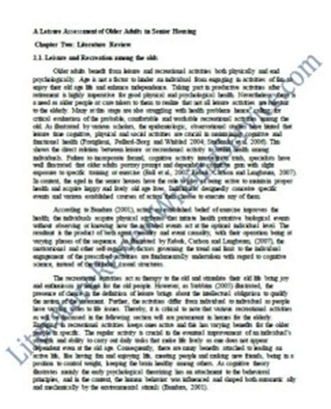 professional dissertation literature review outline from