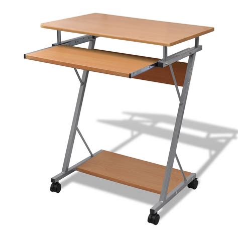 computer desk pull out tray brown furniture office student
