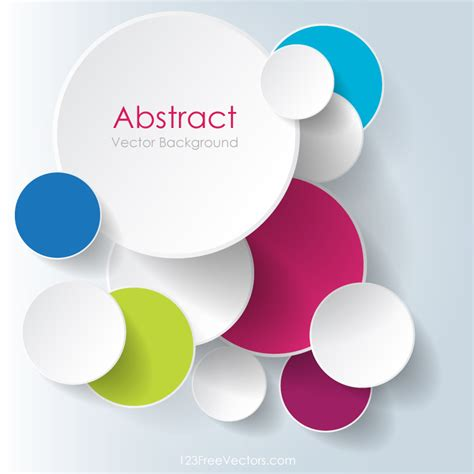 free design colorful overlapping circles background design
