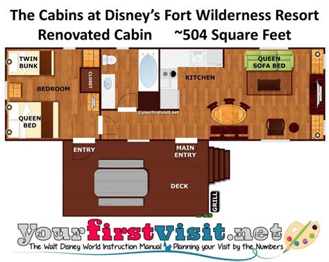 wilderness lodge floor plan photo tour of a refurbed cabin at disney s fort wilderness