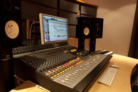studio mixing desk the bridges audient asp4816 mixing desk yamaha ns 10m studio and genelec 1031a monitors