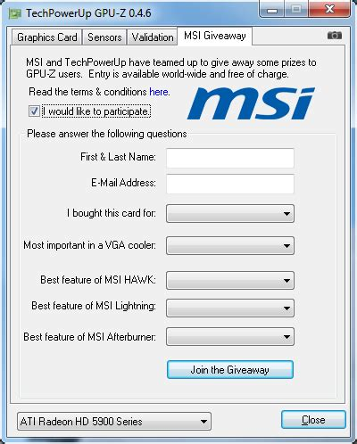 Msi Giveaway - gpu z 0 4 6 released includes hardware giveaway
