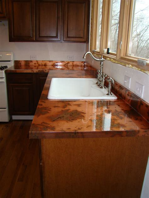 Diy Metal Countertops by The Kitchen And Diy Copper Countertops