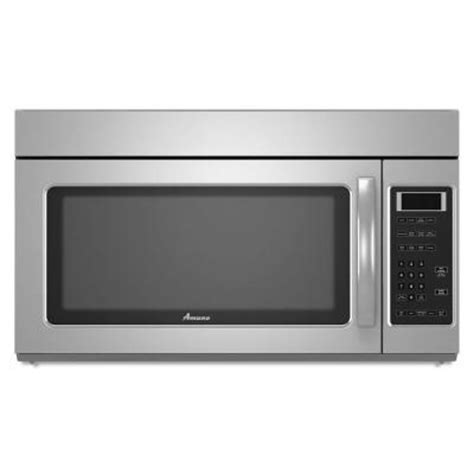 amana 1 7 cu ft the range microwave in stainless