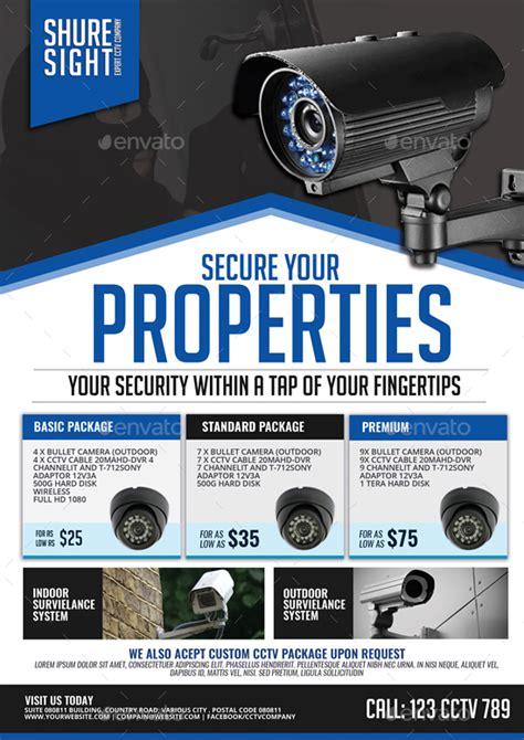 Cctv Surveillance Camera Shop By Artchery Graphicriver Cctv Flyer Template