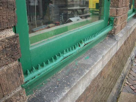 Window Sill Spikes Depot Museum