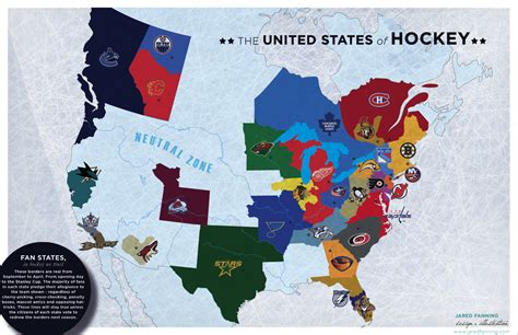 visual map of the united states the united states of hockey satirical map of maps