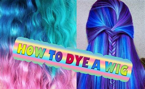 how to dye in hair extensions dye synthetic hair wig dreads ombre extension