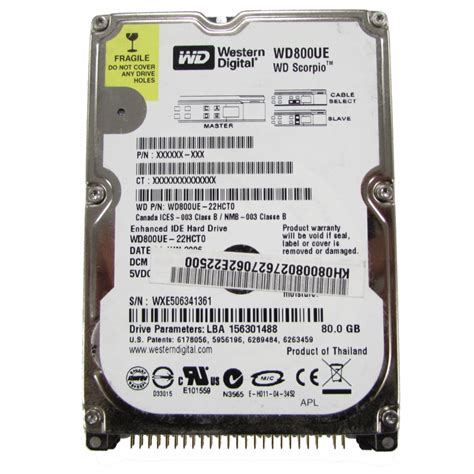 80gb drive ide western digital wd800ue 80gb ide 2 5 quot laptop drive