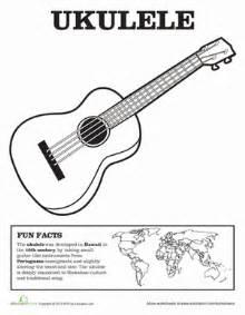 ukulele coloring page education com