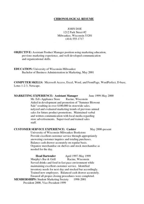 marketing objective for resume 28 images marketing
