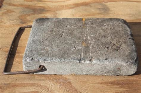 Soapstone Block antique soapstone block foot warmer for sleigh or buggy