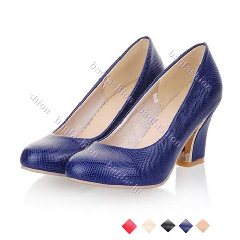 high heels thick bag fashion 11122 s work shoes thick heels high