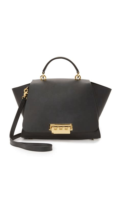 Log In To Win Fabsugars Zac Posen Handbag Giveaway by Shop Zac Zac Posen Eartha Soft Top Handle Bag In Black At