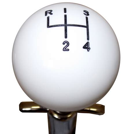 4 Speed Shifter Knob by White Muncie 4 Speed Pattern Shift Knob