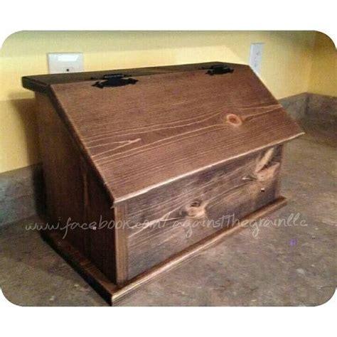 Handmade Bread Box - handmade wooden bread box primitive kitchen by