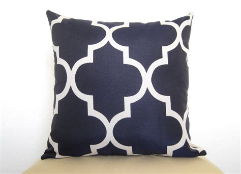 Navy Pillows by Decorative Designer Pillow Moroccan Quatrefoil By