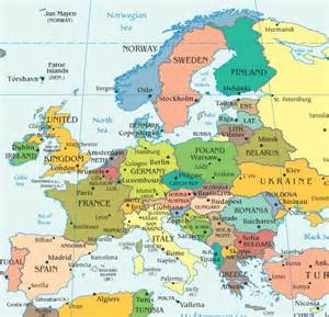 Europe Map Countries And Capitals by Map Of Europe Countries And Capitals