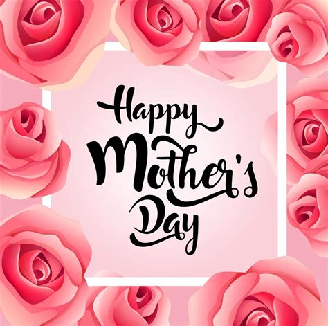 mothers day greeting card happy mother  day elegant