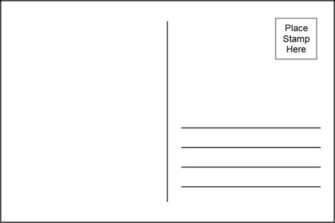 Blank Postcard Template Word Invitation Template Avery Invitation Templates Free