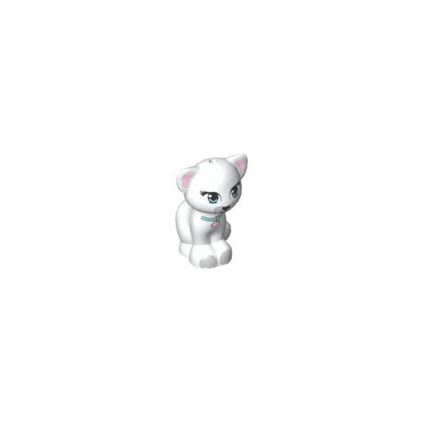 Sale Lego A Brick Animal Cat lego white friends cat sitting with collar 14080 animal