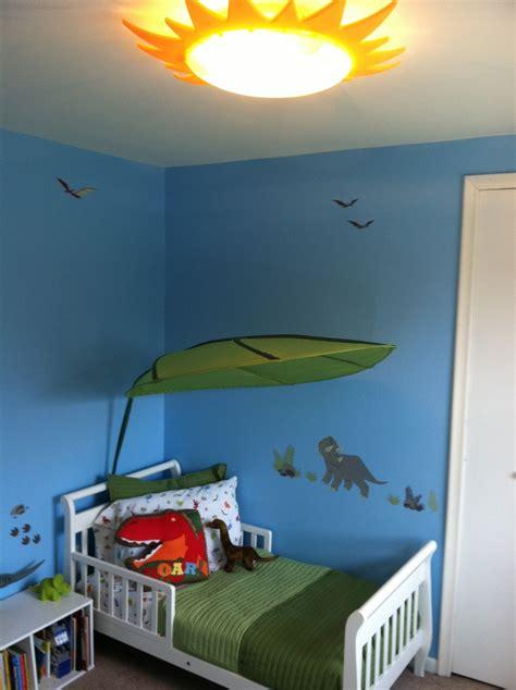 The Dinosaur Room We Did For My Son Toddler Room Dinosaur Light Fixture
