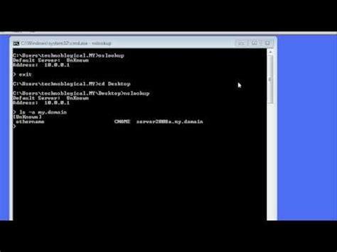 Ns Lookup Windows Command Line Networking Nslookup