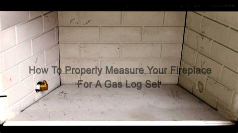 how to measure your fireplace for gas logs