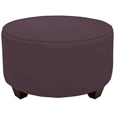 round purple ottoman buy skyline furniture round ottoman in premier purple from
