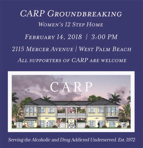 Step Detox West Palm by Carp To Begin Building In West Palm Carp Inc